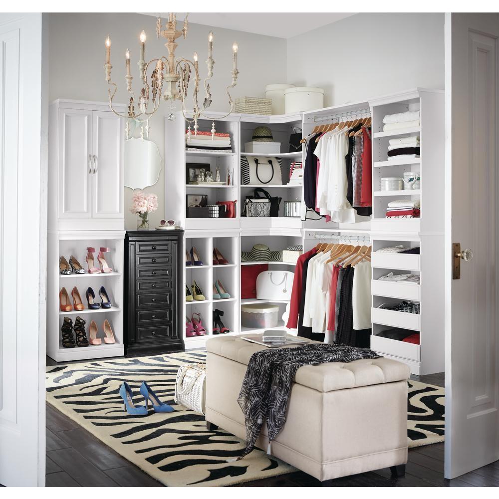 manhattan open modular wood storage cabinet in white wood