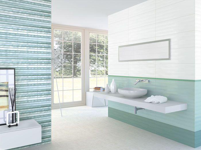 ▷ 1001 + inspirierende Ideen für Wandfarbe Türkis - fliesen bad wei