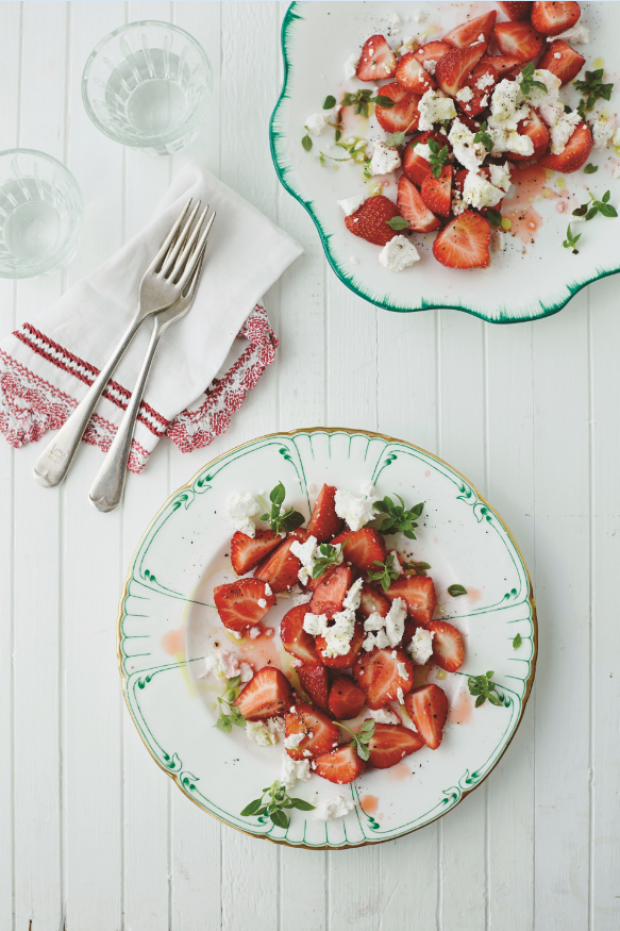 Goats' cheese, strawberry and basil salad | House and Home