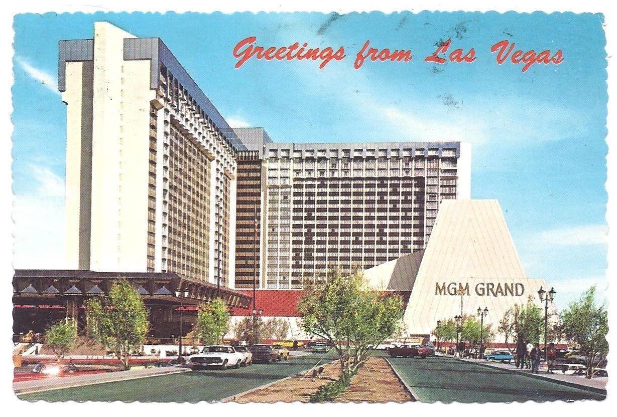 Nv Las Vegas Nevada Mgm Grand Hotel Vintage 1975 Postcard Vegas Vacation Mgm Grand Hotel Las Vegas Mgm Grand Las Vegas