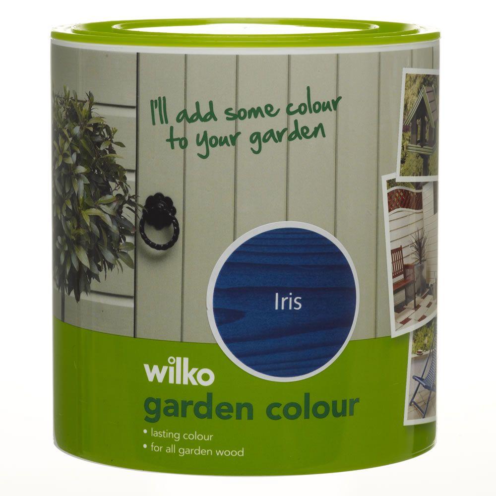 wilko garden colour iris 1ltr at garden ideas. Black Bedroom Furniture Sets. Home Design Ideas