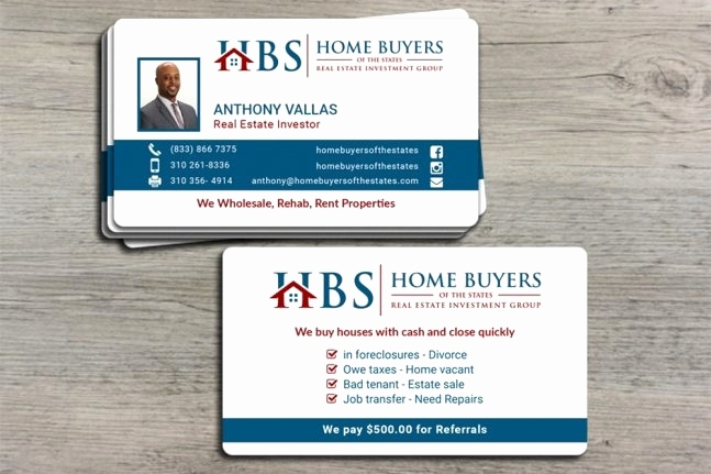 Sample Business Cards For Real Estate