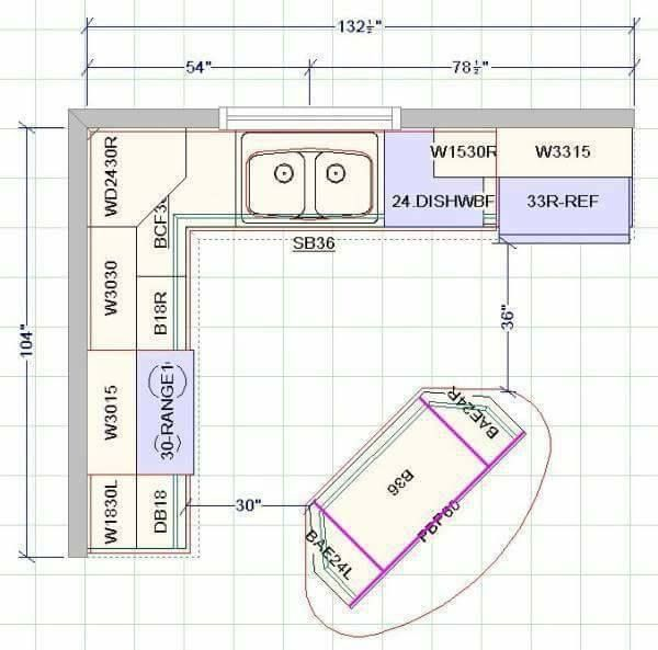 Kitchen Standards In Accordance With The Nkba Guidelines Best Online Engineering Resource Kitchen Layout Plans Kitchen Floor Plans Kitchen Plans