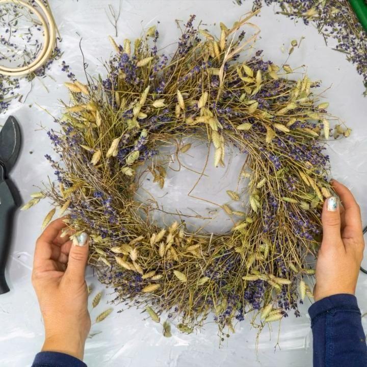 Herbstdeko aus Lavendel selber machen