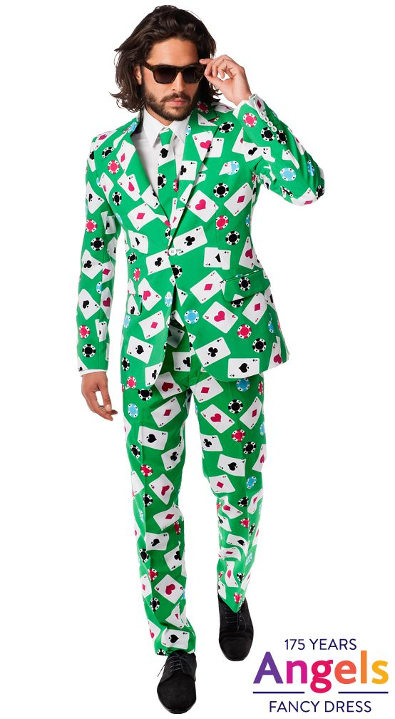 Poker Face Oppo Suit Is The Exact Opposite Of A Regular Business Suit Apart From The Quality And The Fitting These Su Fancy Dress Costumes Party Suits Suits