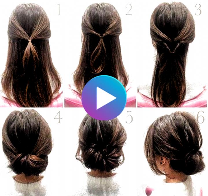 Hairstyle Bun Step By Step Hairstyle Bun Step Hairstyle Bun Hairstyle Bun Messy Hairstyle In 2020 Bun Hairstyles Medium Length Hair Styles Low Bun Hairstyles