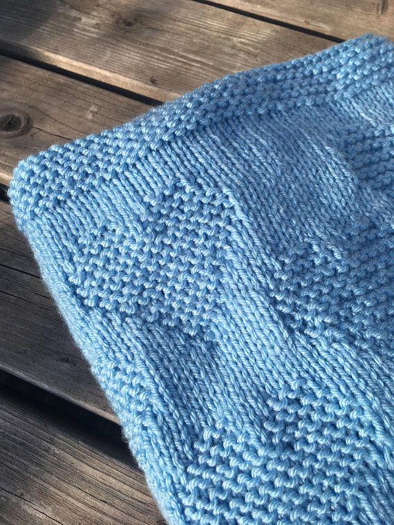 Knitting Pattern Baby Blanket Lots Of Love Heart Pdf Instant