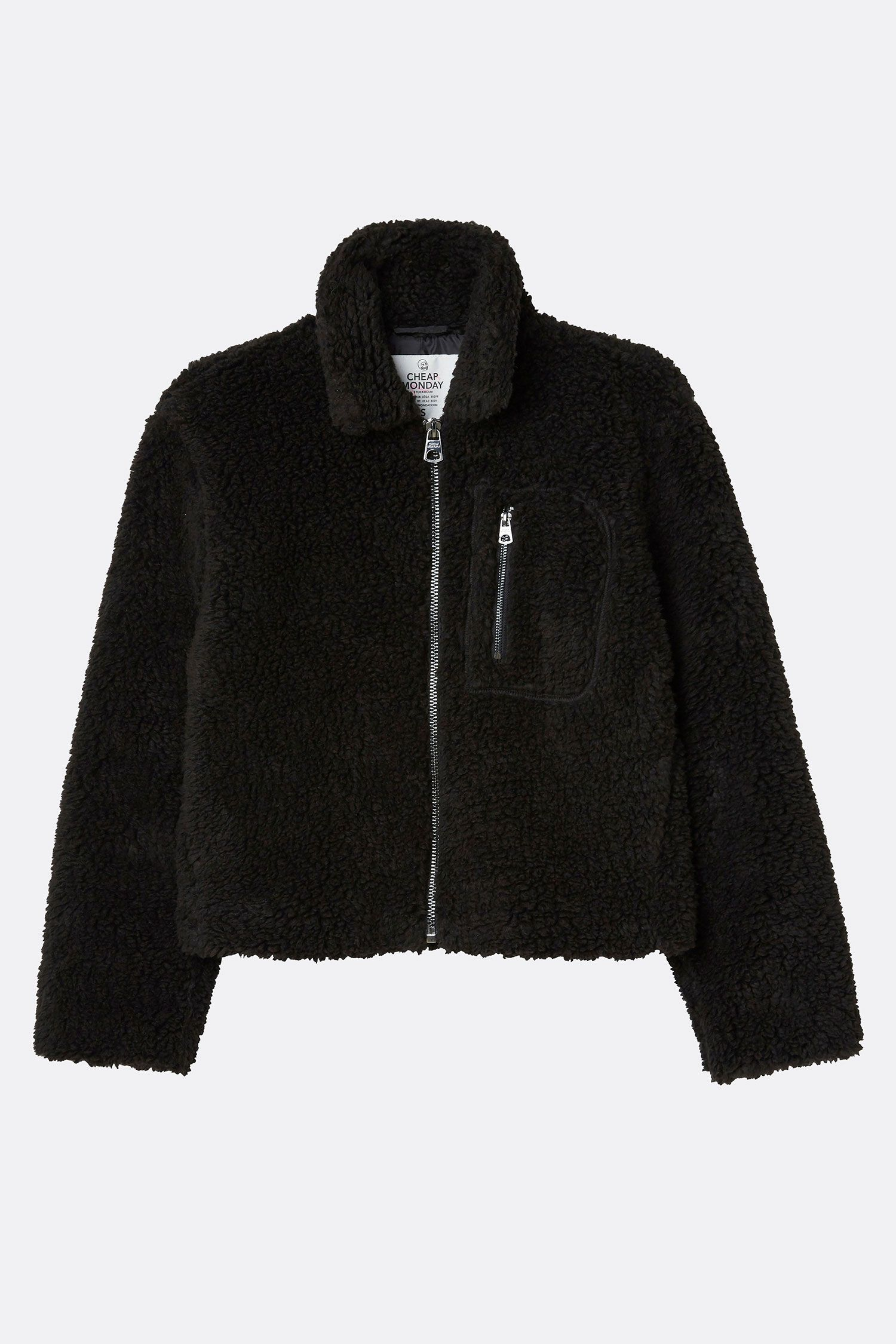524f4fca4f Cheap Monday Image 8 of Function Fleece Jacket in Black
