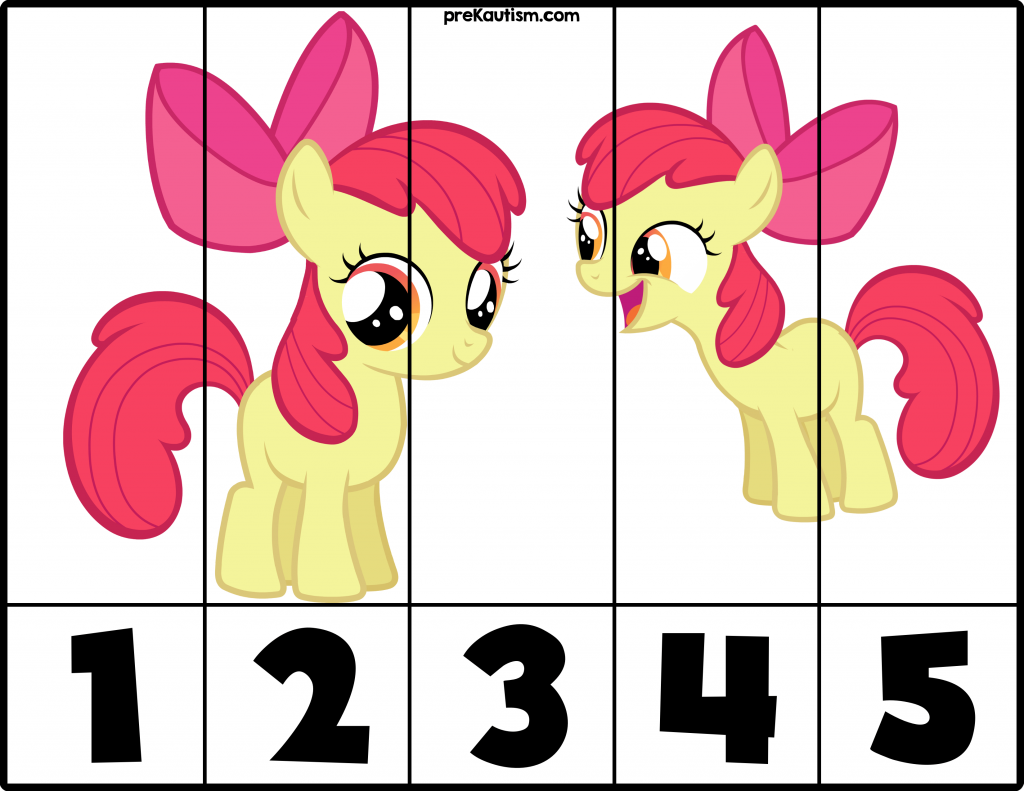 My Little Pony Preschool Worksheet