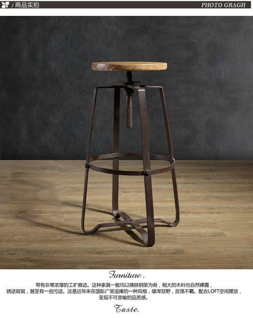 Retro americana xido imitaci n barra de hierro forjado for Bar de madera vintage