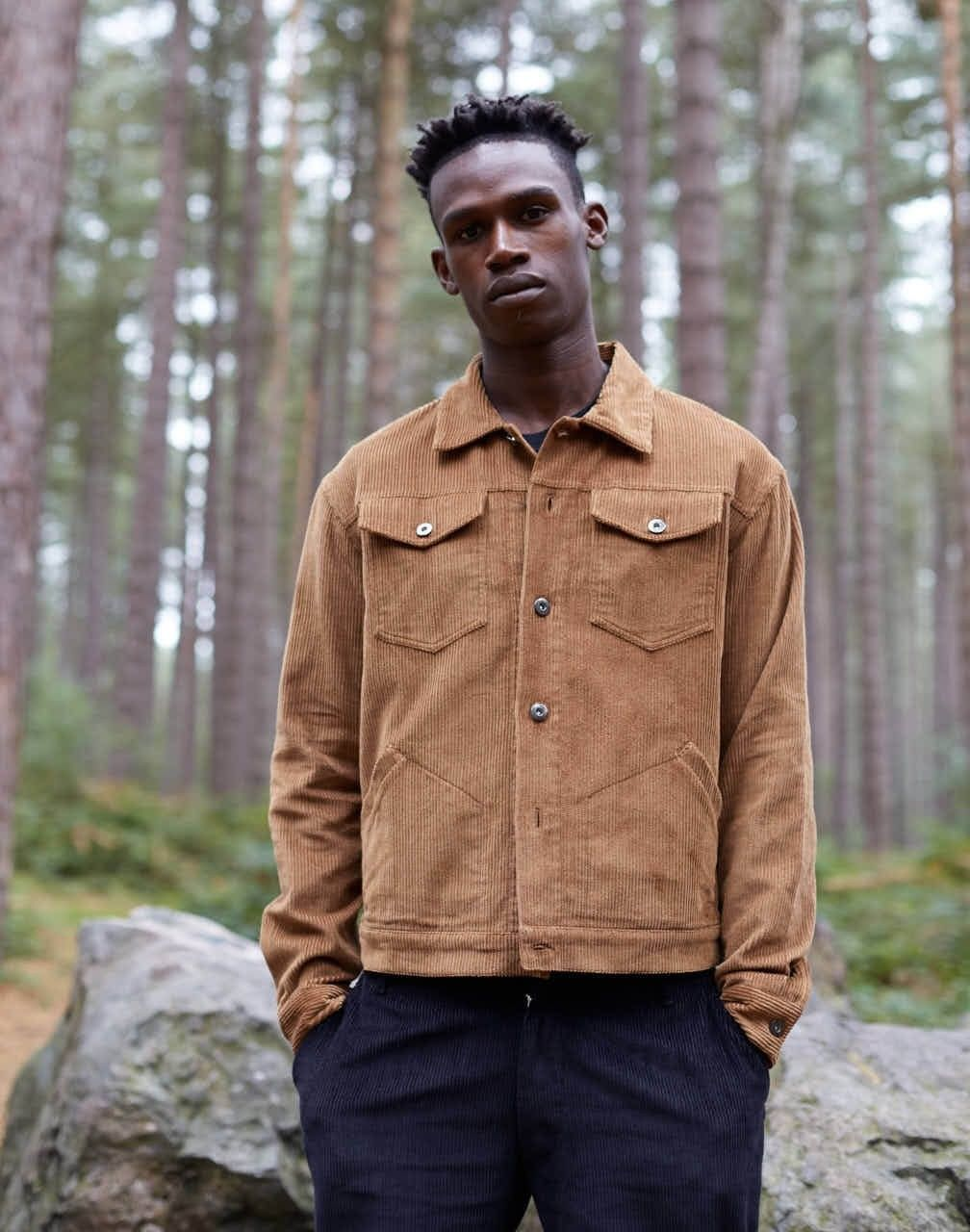 814fa3ed25b The Idle Man Cord Worker Jacket Tan - The Idle Man - Brands at The Idle Man