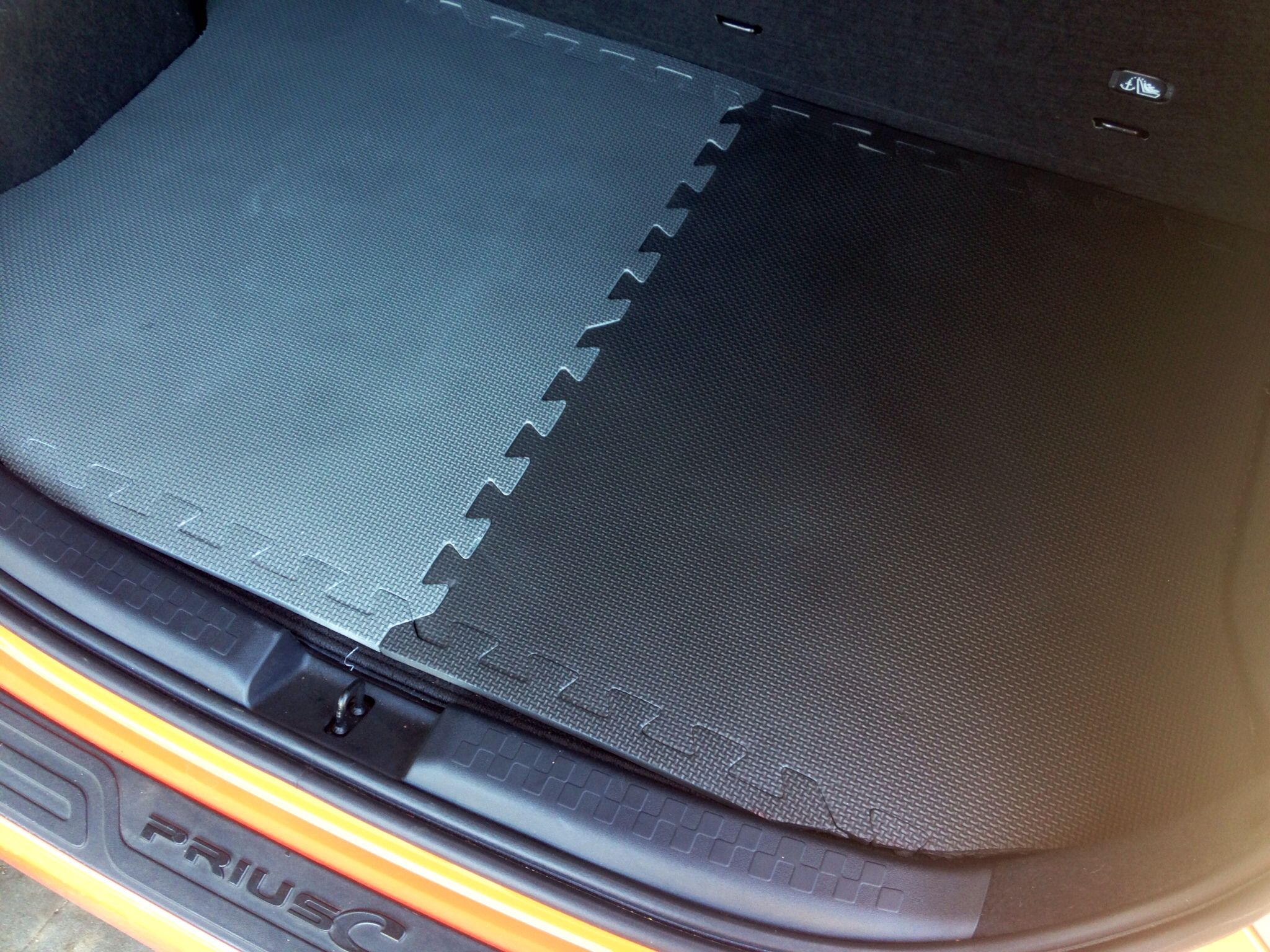 Diy All Weather Car Mat Cut Foam Tiles Using Outline From