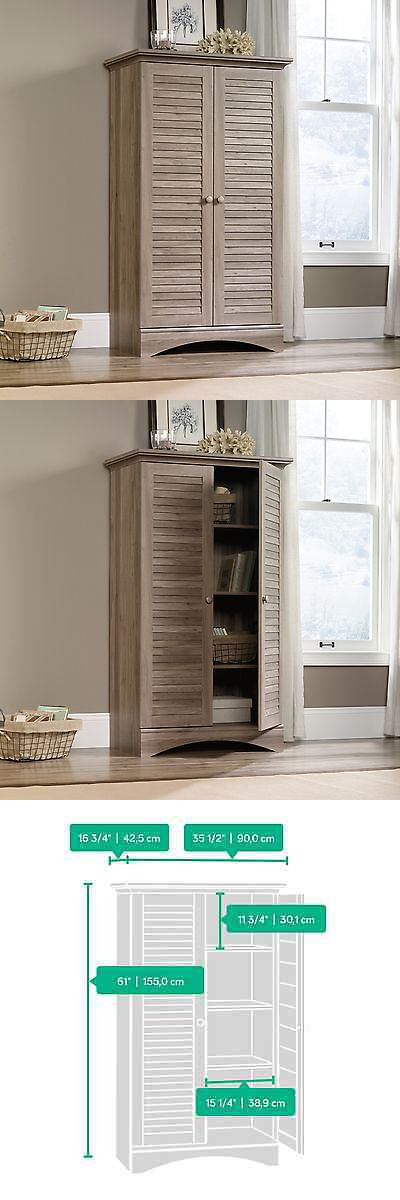 Incroyable Cabinets And Cupboards 20487: Storage Cabinet   Salt Oak   Harbor View  Collection (416825