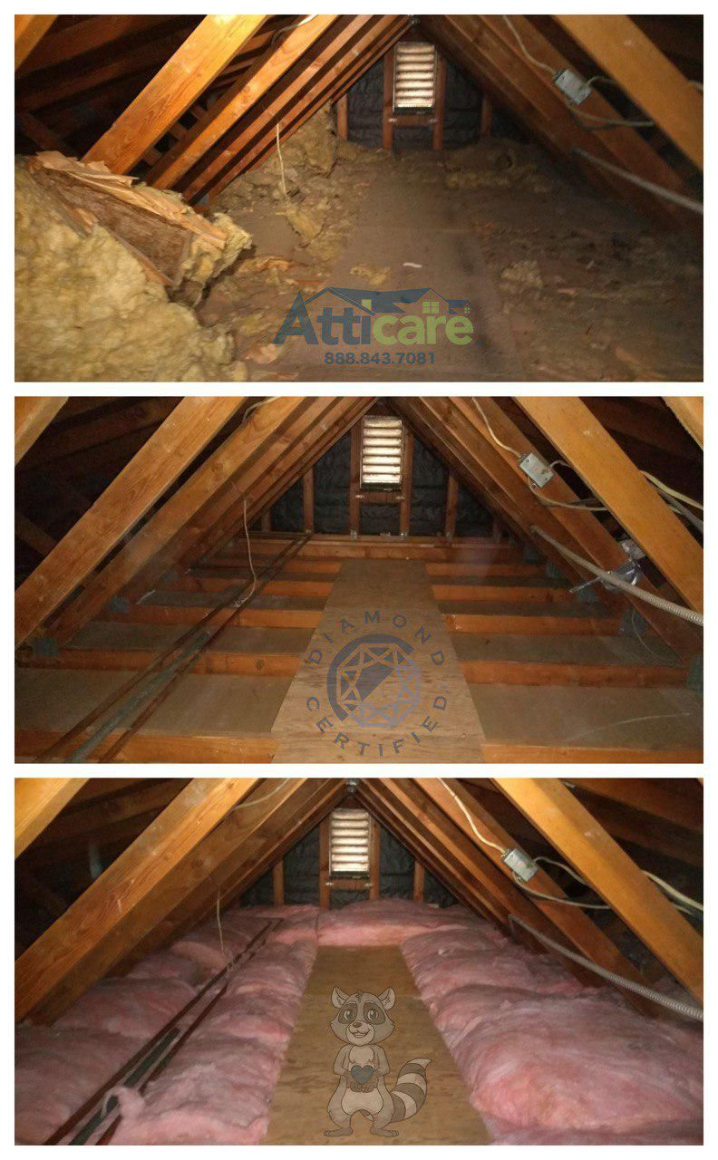 Attic Cleanup And New Insulation Installation Installing Insulation Diy Renovation Home Upgrades