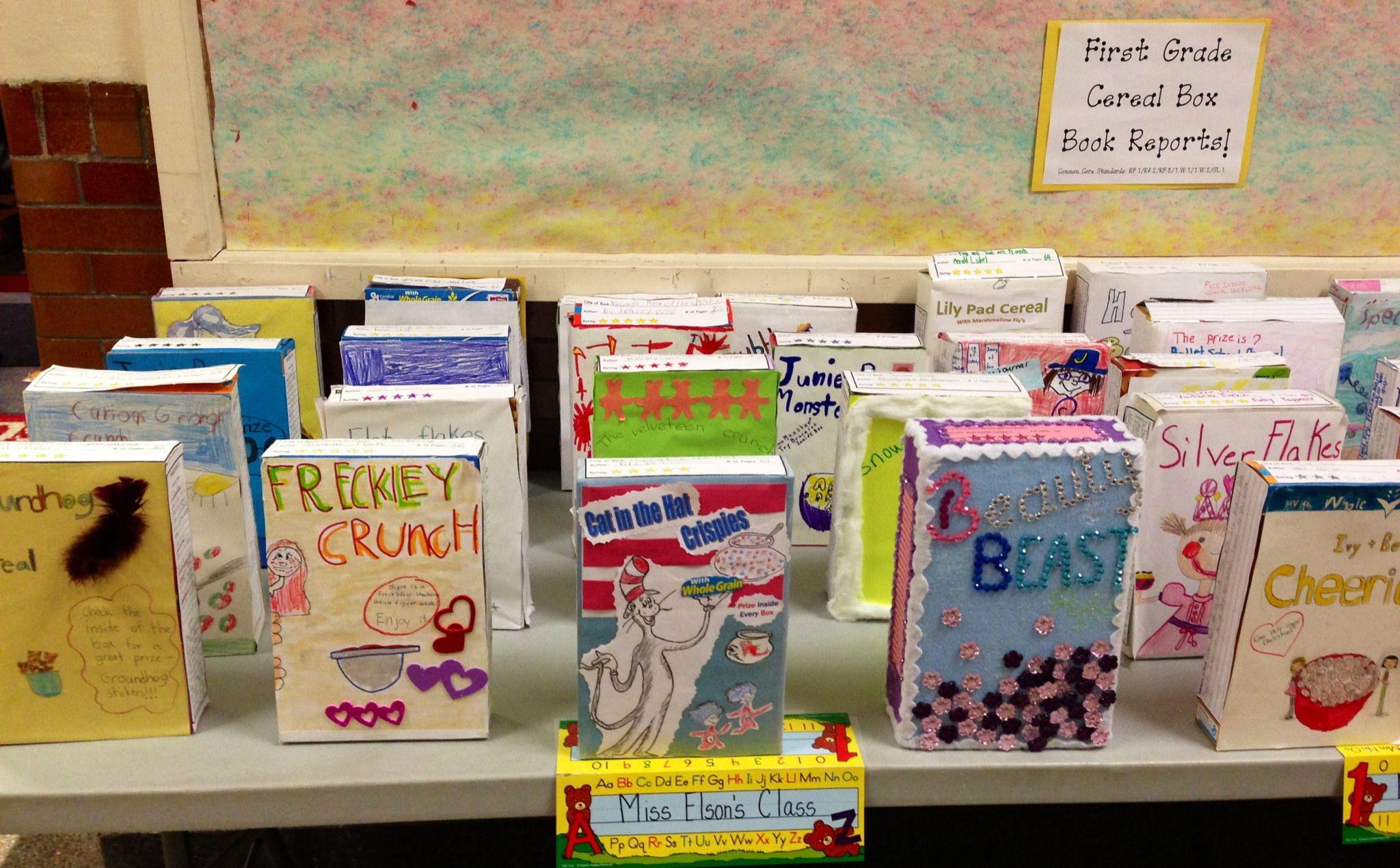 Cereal Box Book Reports  Teaching    Cereal Teacher