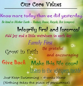 family values first and foremost