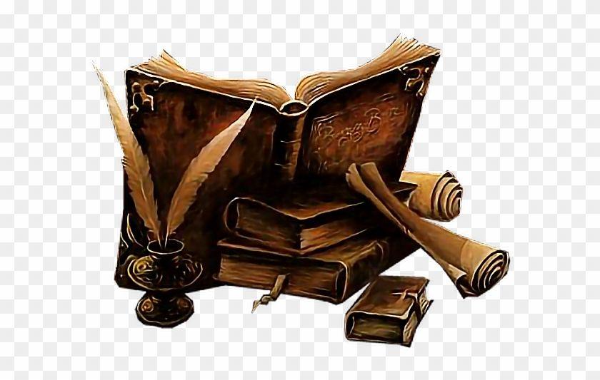 Spellbook Sticker Old Magic Book Art Hd Png Download Magic Book Book Art Spell Book