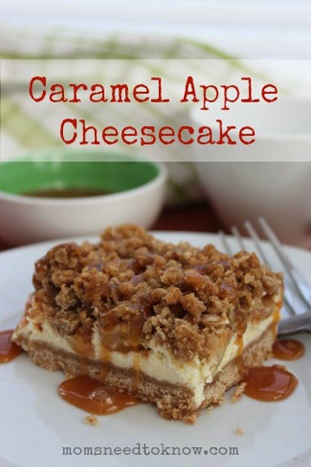 20 Easy Caramel Apple Recipes #caramelapplecheesecake