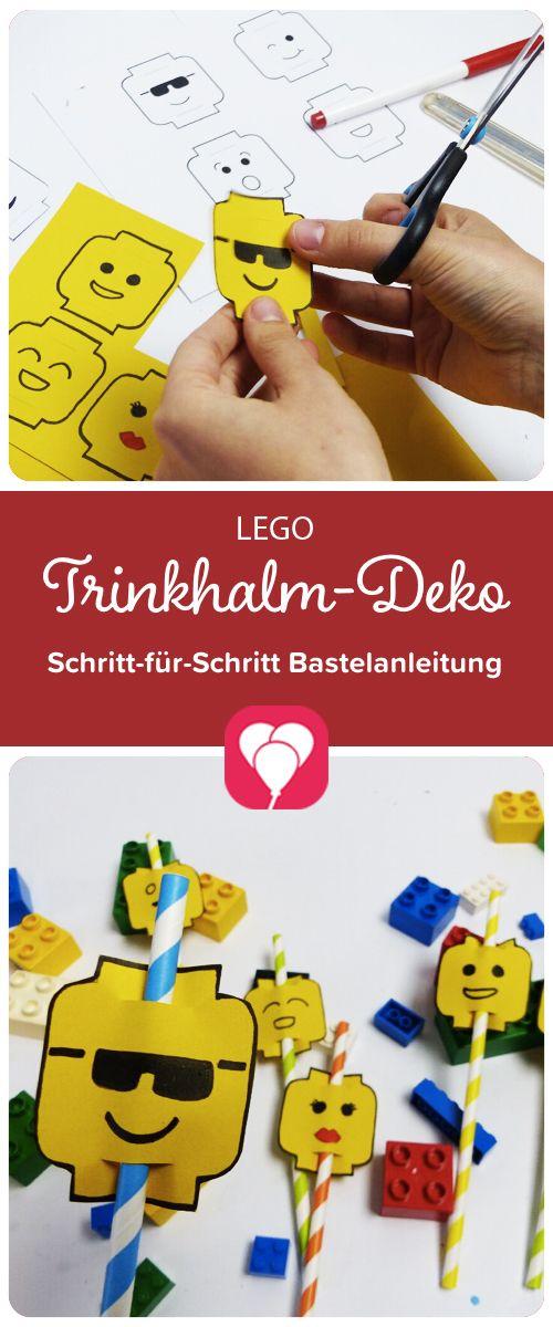 Lego! Kostenlose Vorlage für Trinkhalm-Deko! Wir veranstalten eine ...