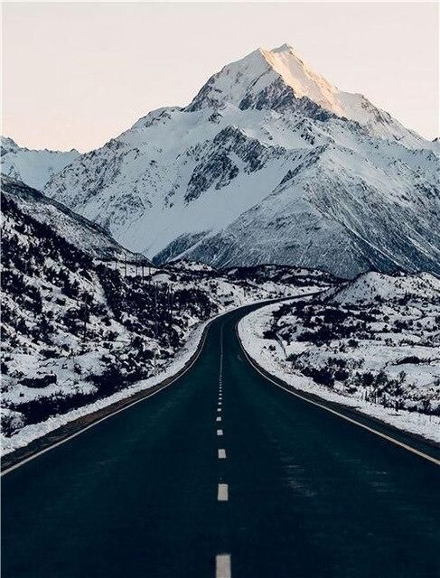 Photo of Modern Scenery Posters and Prints Nature Road Mountain Landscape Wall Art Canvas Painting for Living Room Dormitory Home Decor – 40x60cm no frame / B