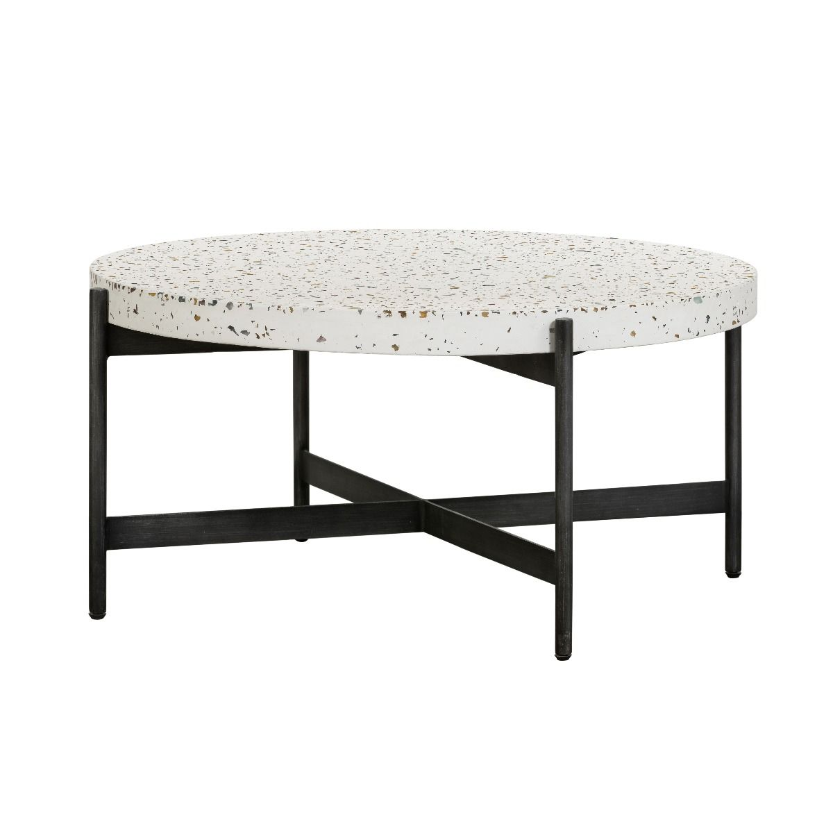 Jaque Terrazzo Coffee Table White Matt Blatt Table