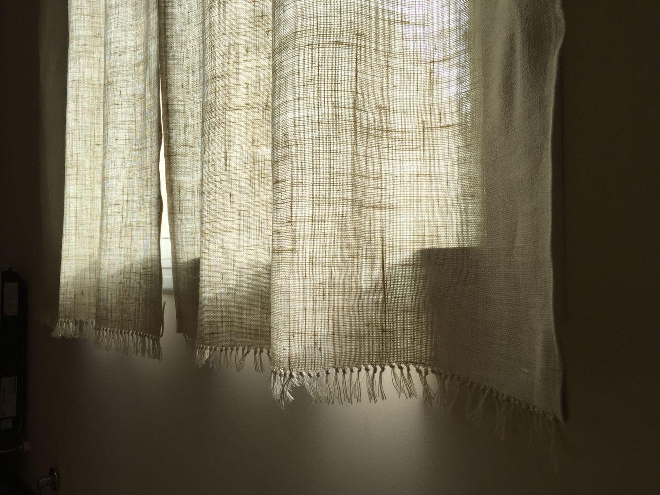 Terminaci n cortinas de arpillera cortinas pinterest - Cortinas de arpillera ...