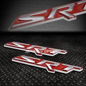 2x Metal Bumper Trunk Grill Emblem Decal Logo Badge Red For Dodge Srt4 Srt8 10 Emblems Bumpers Dodge
