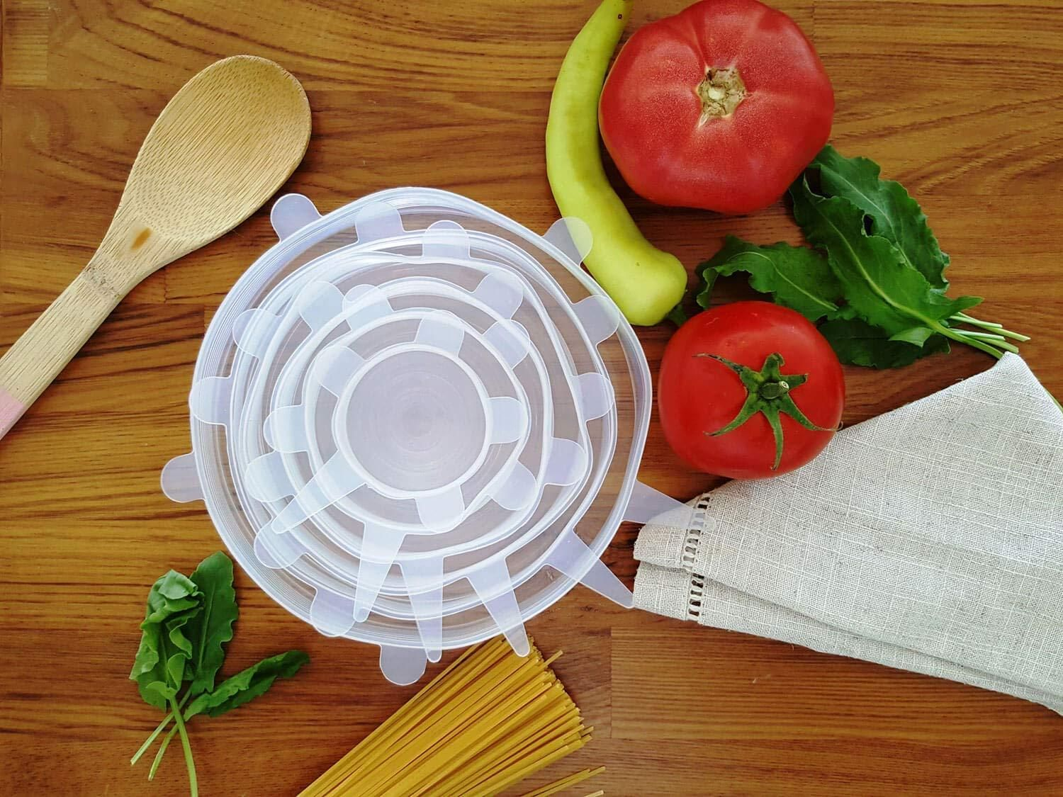 Kitchen Goods Store Open Designs In Small Apartments Silicone Stretch Lids Reusable Plastic Wrap Alternative 6 Pack Eco Friendly Food Storage
