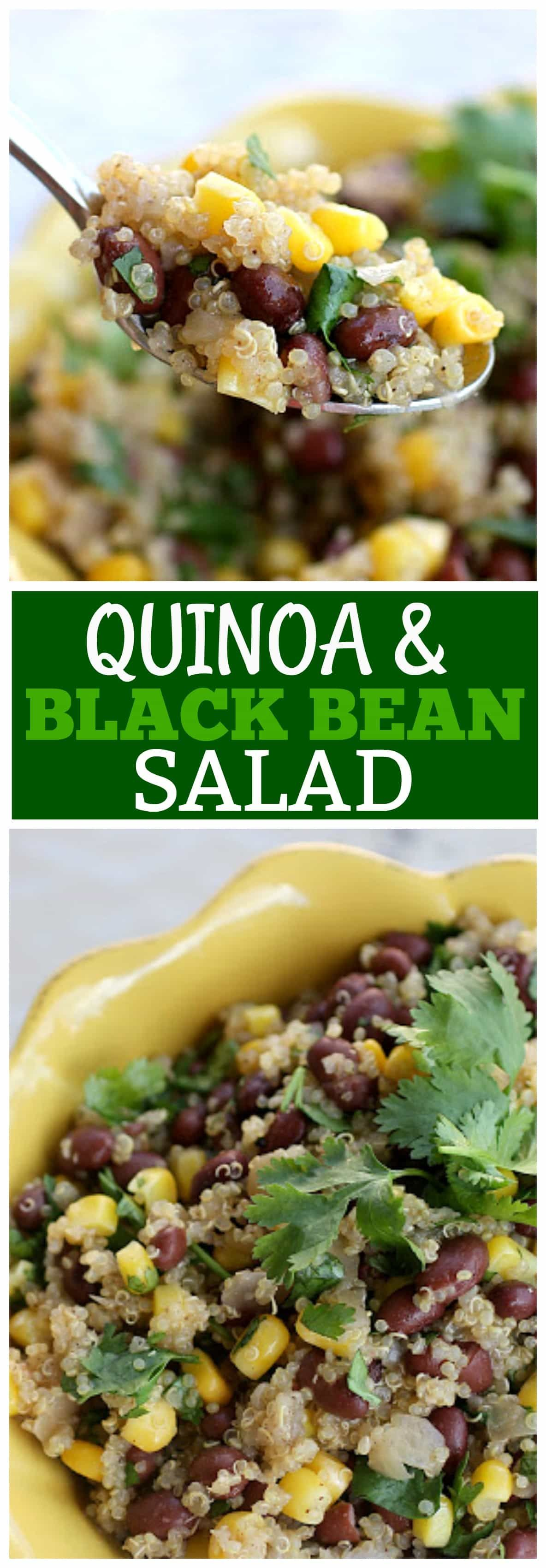 This Quinoa And Black Bean Salad Is A Vegan Mexican Side Dish Packed With Corn And Black Beans Diy Food Recipes Diy Easy Recipes Vegan Mexican Recipes