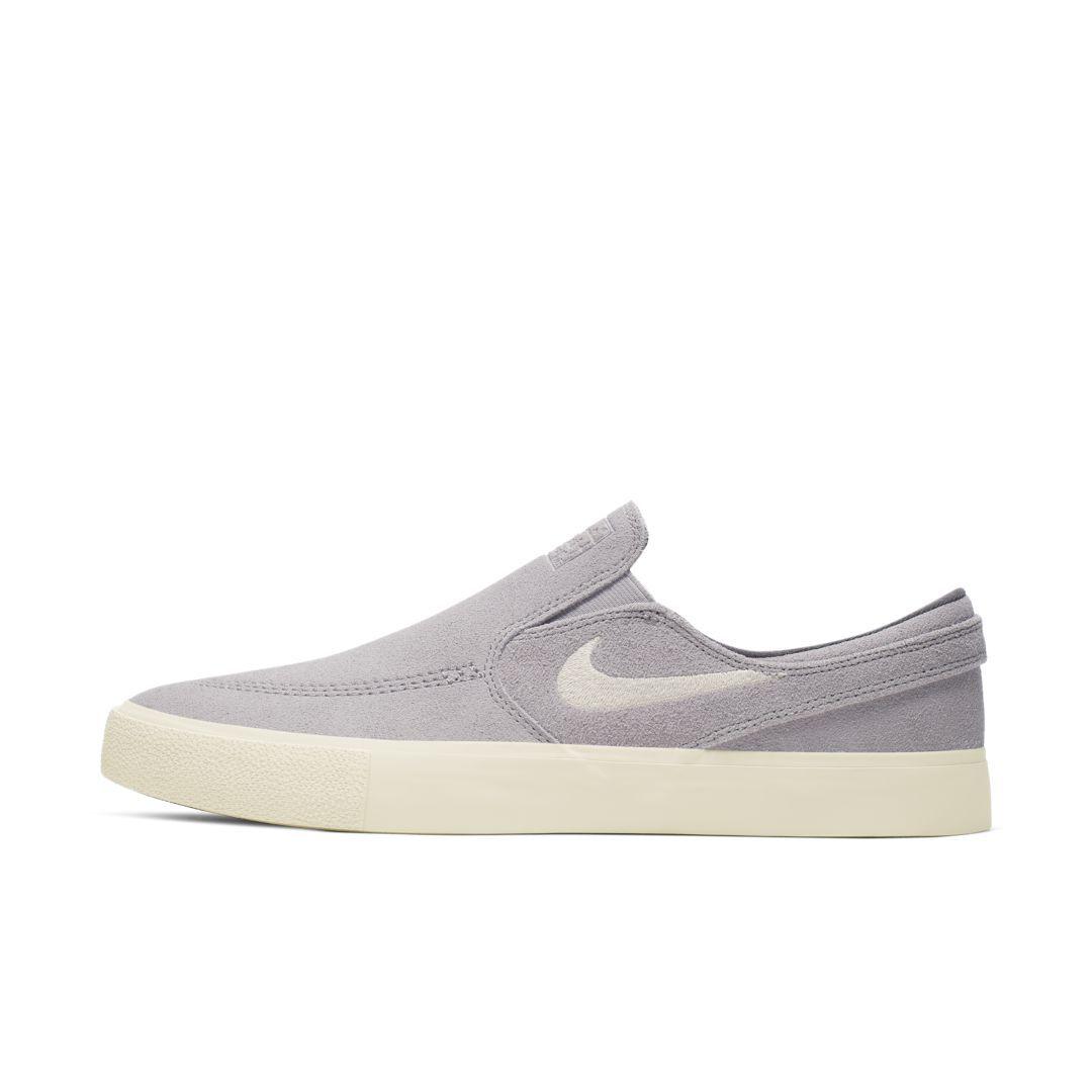 Nike SB Zoom Stefan Janoski Black & White Slip On Skate Shoes