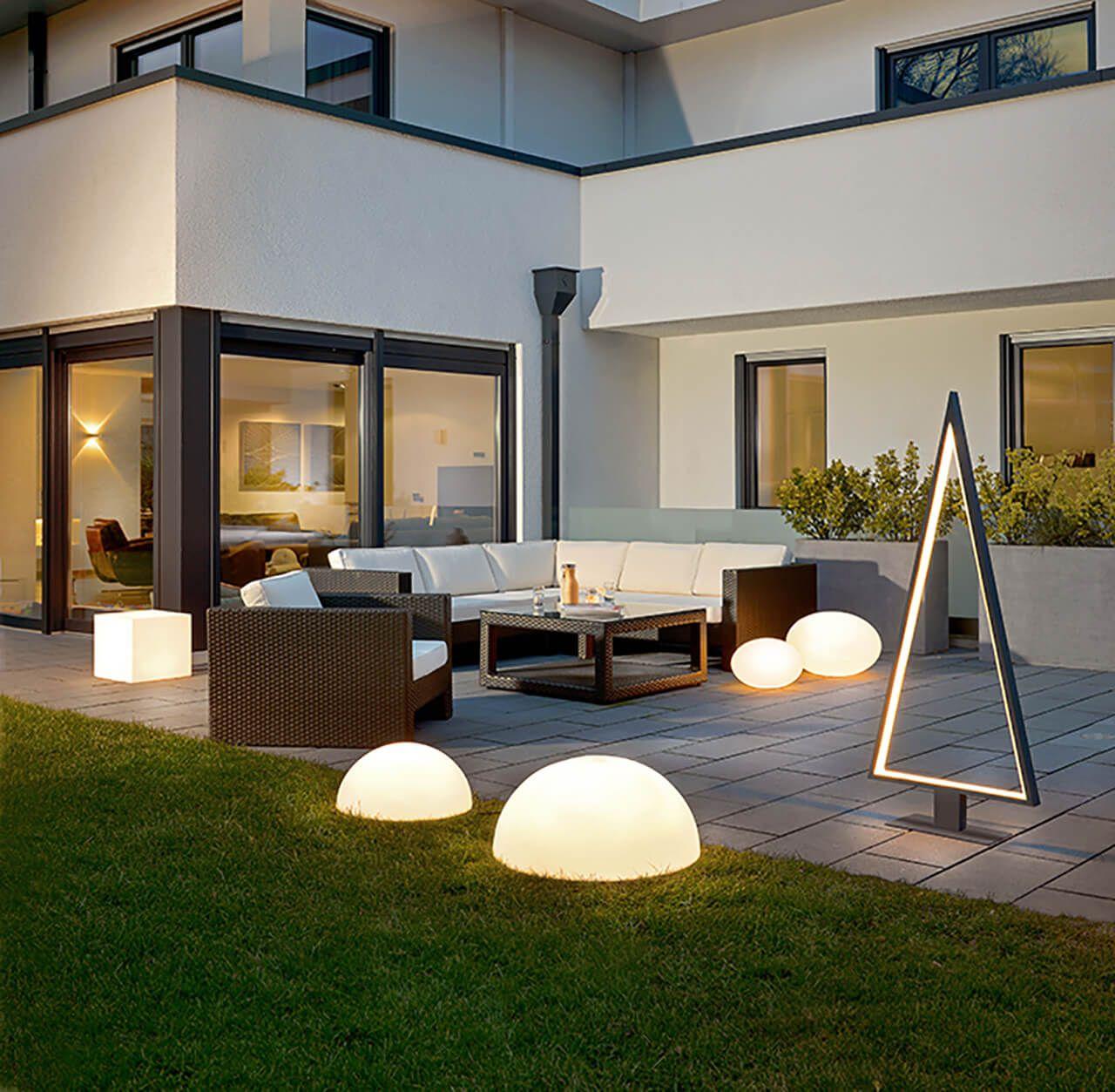 LED Außenleuchten verleihen Deinem Garten oder Terrasse den
