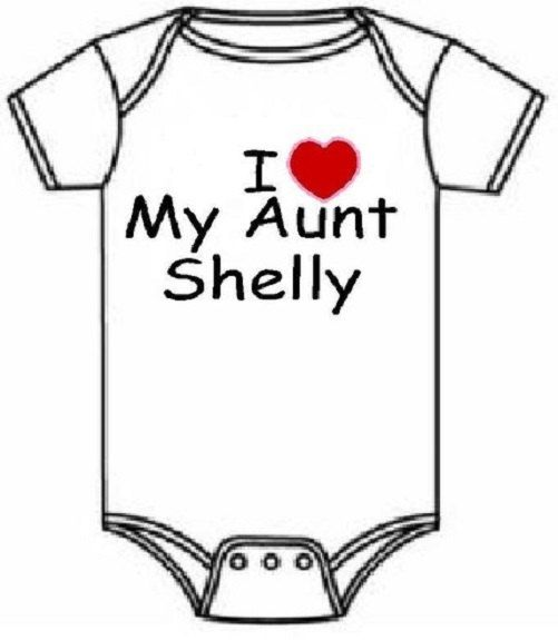 I love my Aunt Uncle personalized newborn infant custom baby one piece snapsuit outfit, you choose color and size! on Etsy, $9.39