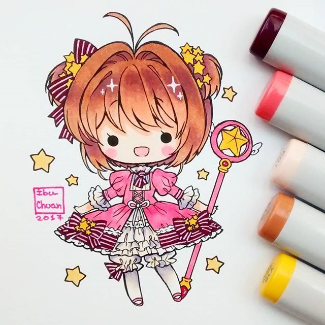 Chibi Drawing Request S Closed: Chibi Drawings, Anime Chibi, Sakura Card
