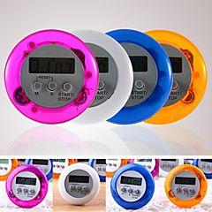 digital kjøkken telle ned opp lcd tidtaker alarm (tilfeldig farge)