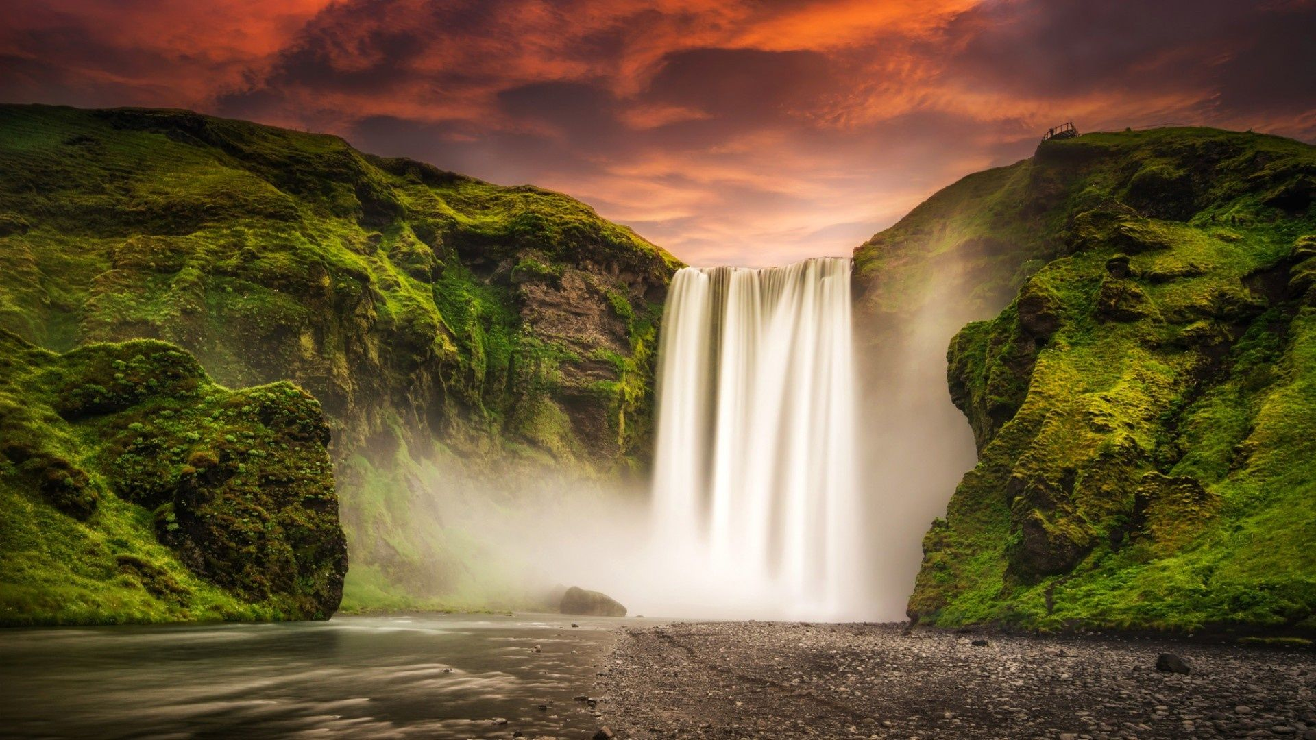 Skogafoss Waterfall Iceland Wallpaper [1920 x 1080] Need