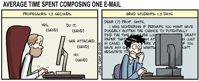 grad school emails..bahah