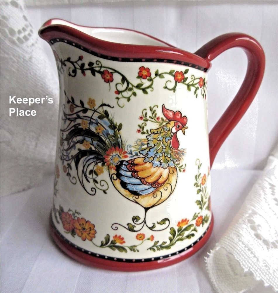 Yankee candle french country rooster pitcher tea light holder