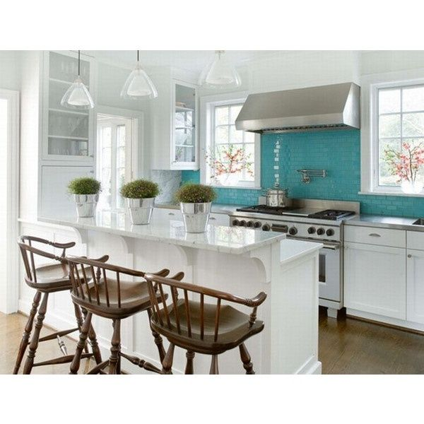 Kitchen Peninsula Cooktop: Mh Designs 34 Weeks Ago Kitchens Peninsula Turquoise White Kitchen