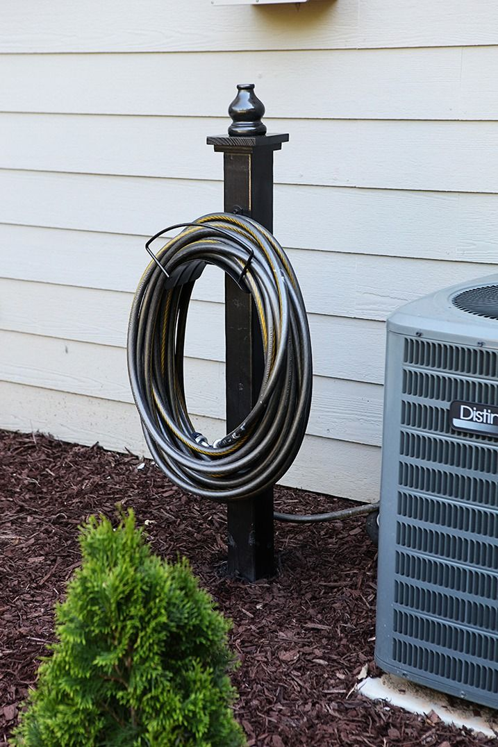 Why not have a pretty place to hang the hose? Check out this step by step tutorial to build your own.