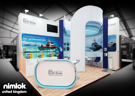 Nimlok specializes in trade show displays for southboats we designed and built a truly custom for Stand expo deco