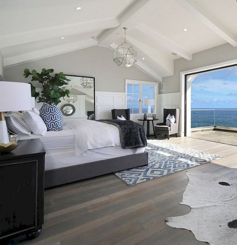 48 Comfy Modern Coastal Master Bedroom Decorating Ideas Page 20 Of 50 Coastal Bedroom Decorating Master Bedrooms Decor Beach House Interior Design
