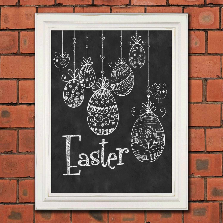 Popular Items For Easter Chalkboard On Etsy