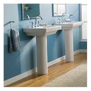 American Standard Boulevard 24\'\' x 19\'\' Pedestal Kitchen Sink ...