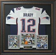 Tom Brady Signed New England Patriots Home Jersey.