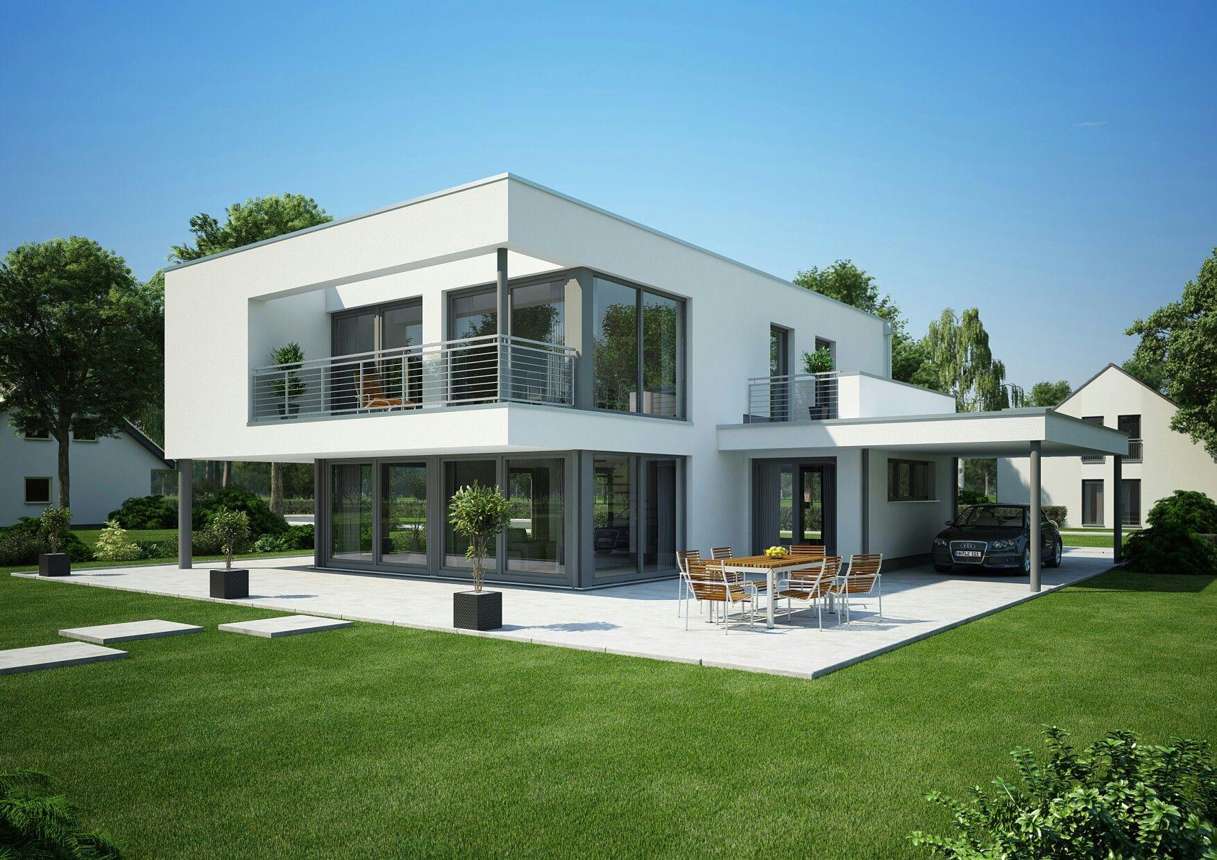 Musterhaus Modern Flachdach