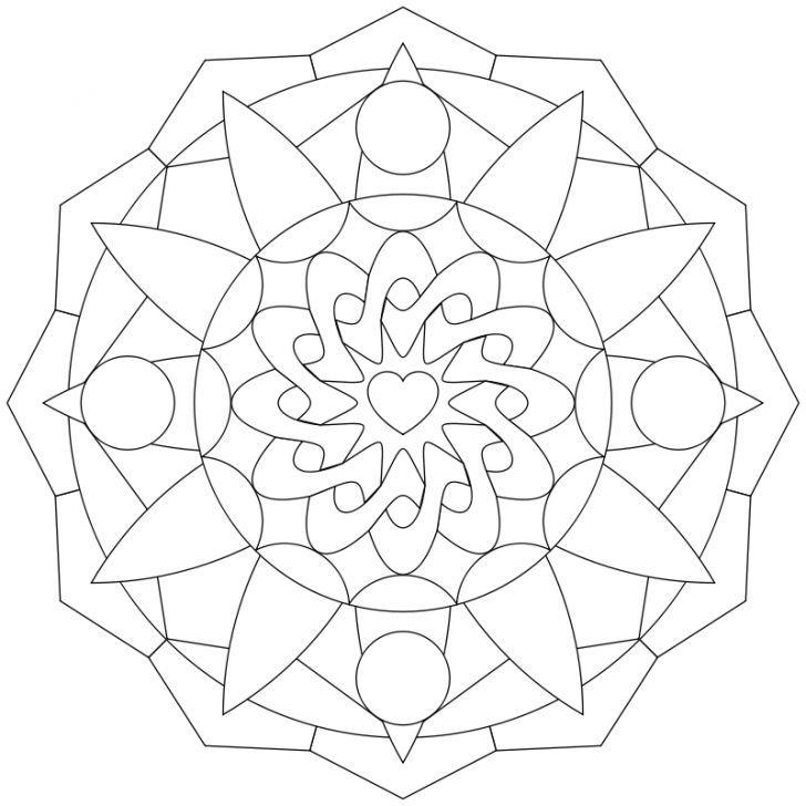 Ausmalbild Abstraktes Muster