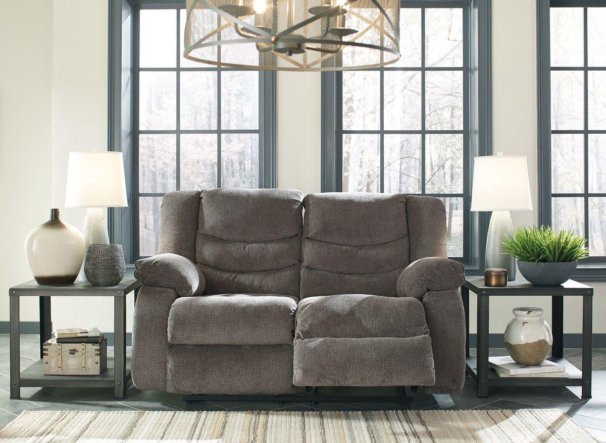 Ashley Tulen Gray Reclining Loveseat Muebles Reclinables Interior De La Casa Muebles
