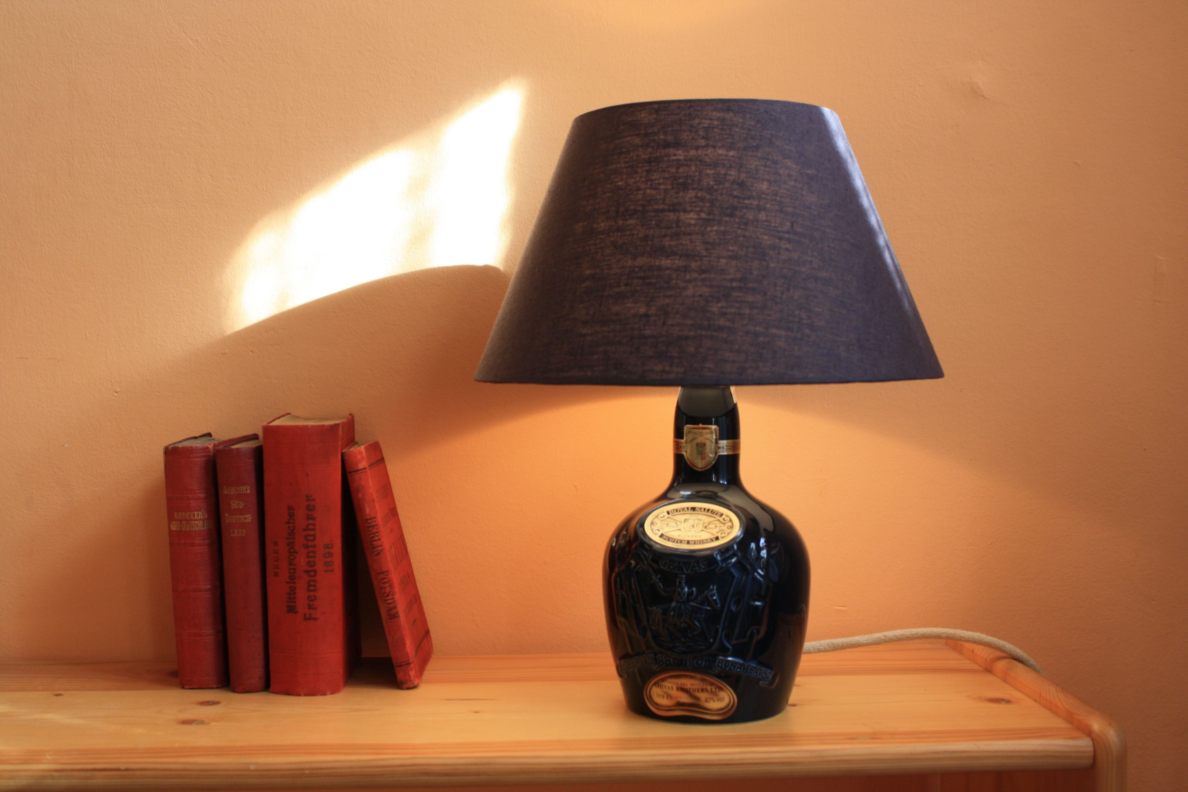 Charming table lamp made from bottle of royal salute the brand of charming table lamp made from bottle of royal salute the brand of 21 years old aloadofball Choice Image