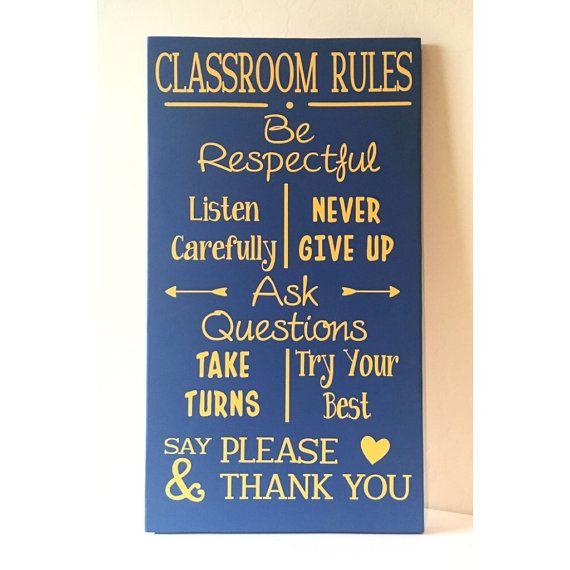 Diy kit classroom rules wooden sign supplies craft kit diy kit classroom rules wooden sign supplies craft kit teacher gift solutioingenieria Images