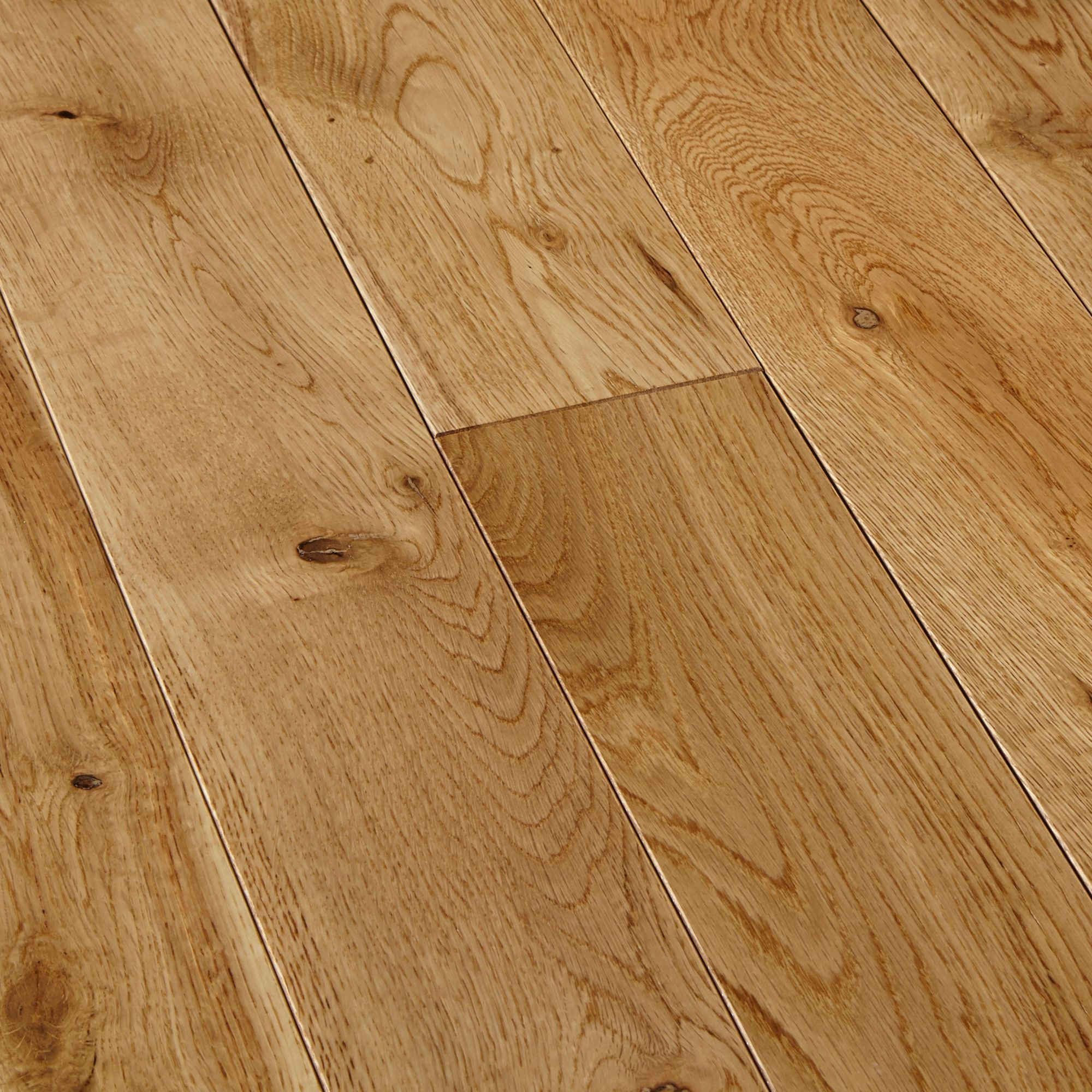 colours symphonia natural solid oak flooring 1.3 m² pack | solid